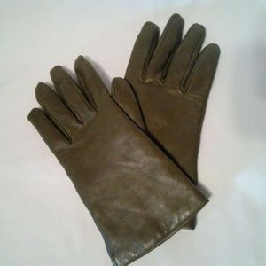 VTG Luciano Sz 8 Leather Italian Gloves Cashmere